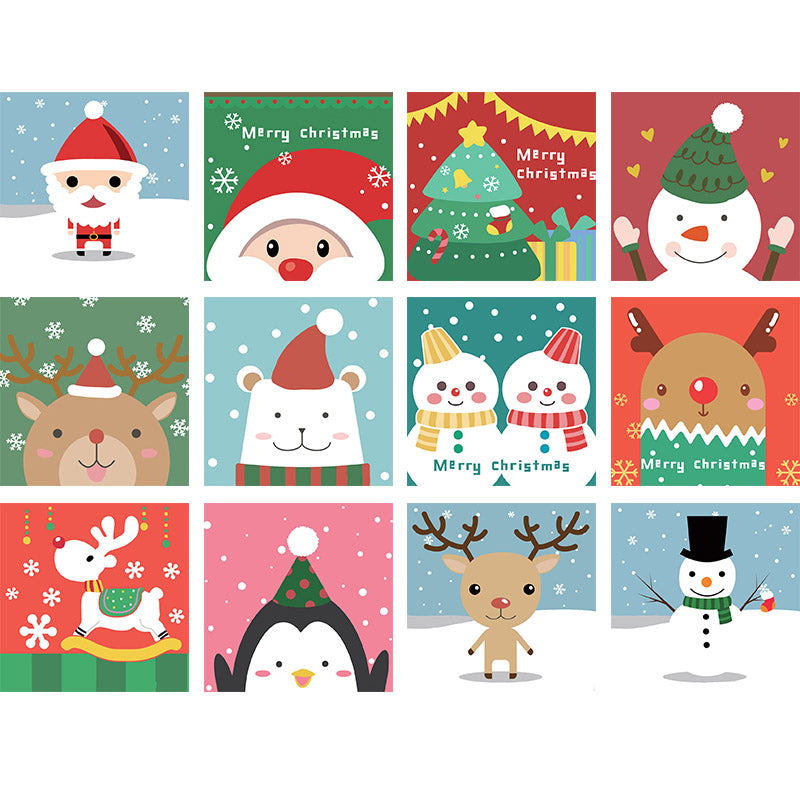Christmas Snowman - Easy DIY Paint by Numbers Kits for Kids - OwlCube Canvas Wall Art - OwlCube - Diamond Painting by Numbers