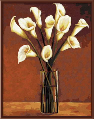 Calla Flowers - Easy DIY Paint by Numbers Kits - OwlCube - Diamond Painting by Numbers