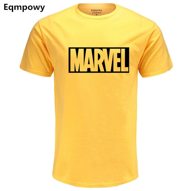 Eqmpowy 2017 New Fashion MARVEL t-Shirt men cotton short sleeves Casual male tshirt marvel t shirts men tops tees Free shipping