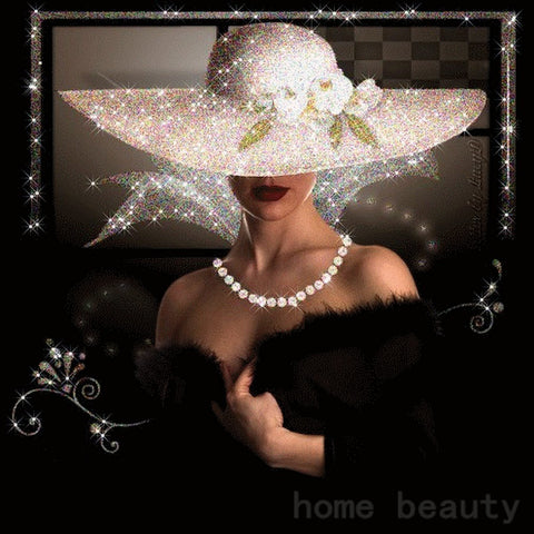 Beauty Lady - Easy DIY Diamond Painting Kits - OwlCube - Diamond Painting by Numbers