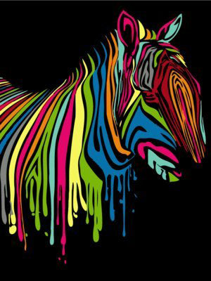Animal Horses - Easy DIY Paint by Numbers Kits - OwlCube - Diamond Painting by Numbers