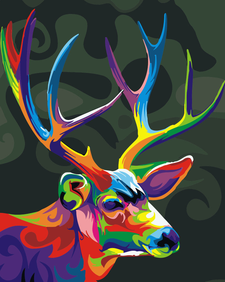 Camouflage Deer - Easy DIY Paint by Numbers Kits - OwlCube - Diamond Painting by Numbers