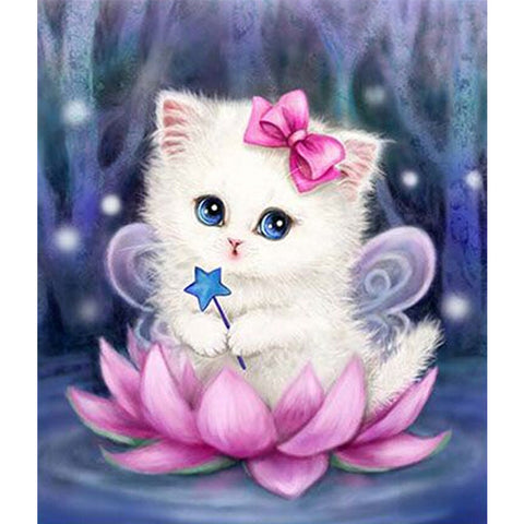 Cartoon Cat - Easy DIY Diamond Painting Kits - OwlCube - Diamond Painting by Numbers