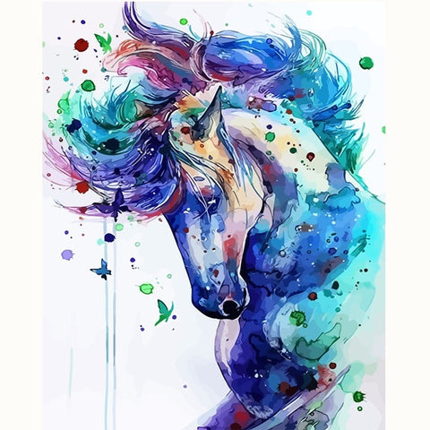 Abstract Horse Animal - Easy DIY Paint by Numbers Kits - OwlCube - Diamond Painting by Numbers