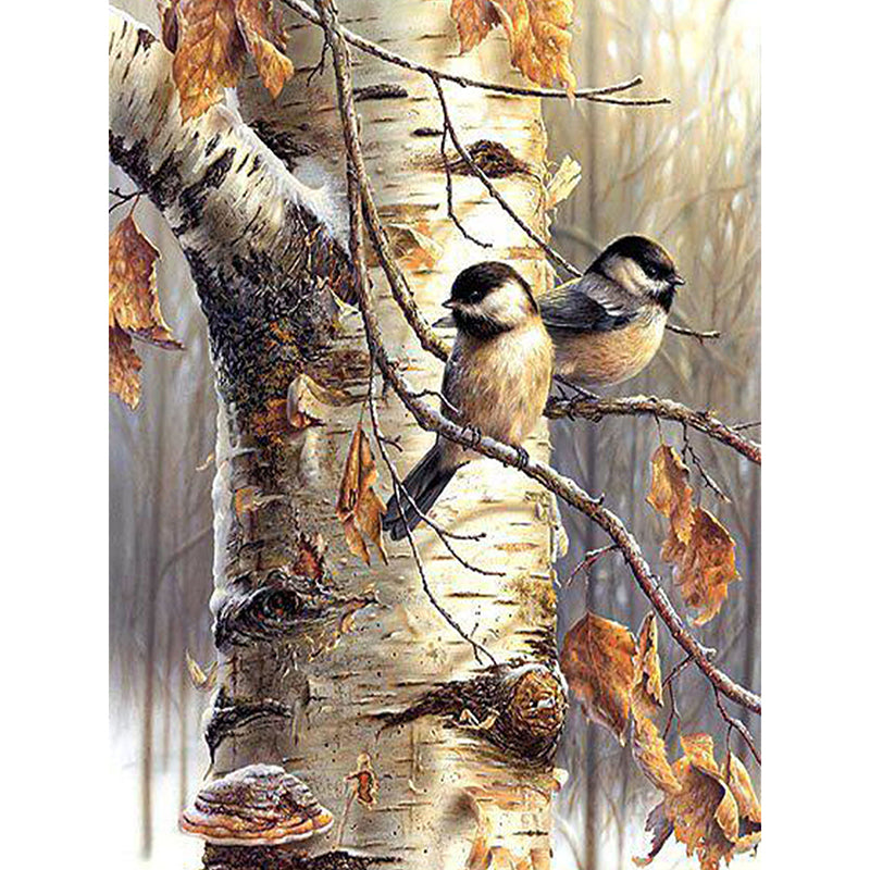 Birds on the Tree - Easy DIY Diamond Painting Kits - OwlCube - Diamond Painting by Numbers
