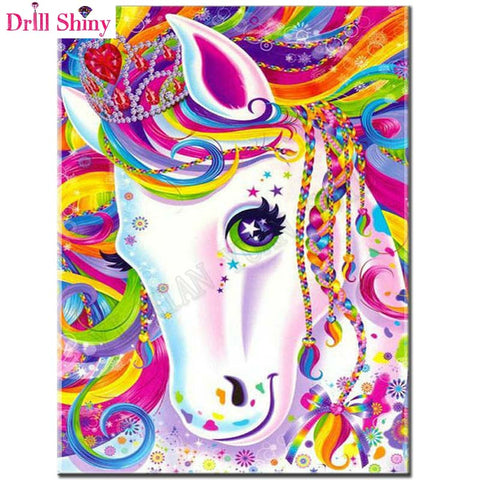 Cartoon Unicorn - Easy DIY Diamond Painting Kits - OwlCube - Diamond Painting by Numbers