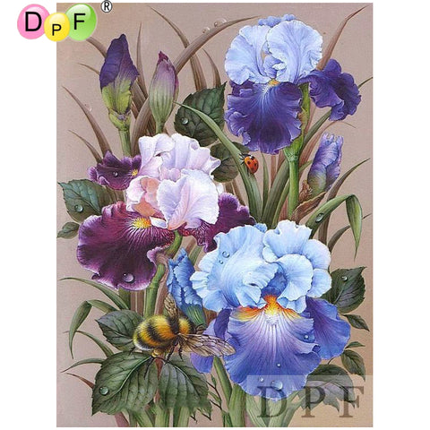 Flowers Bees - Easy DIY Diamond Painting Kits - OwlCube - Diamond Painting by Numbers