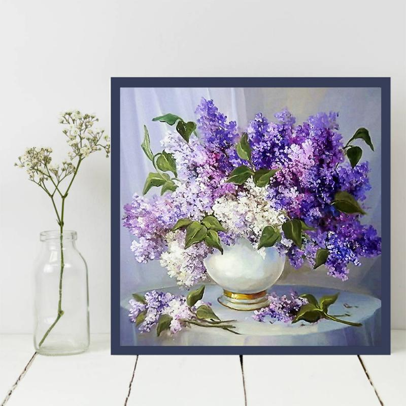 Beautiful Lavender - Easy DIY Diamond Painting Kits - OwlCube - Diamond Painting by Numbers