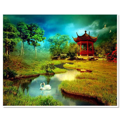 beautiful Landscape - Easy DIY Diamond Painting Kits - OwlCube - Diamond Painting by Numbers