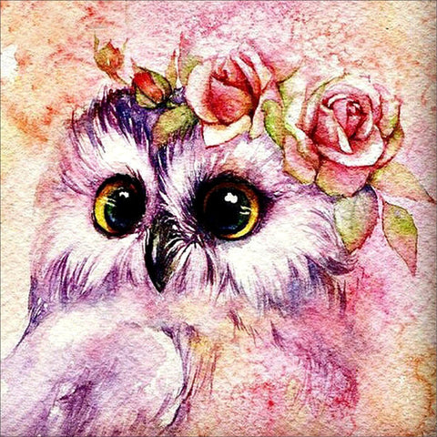Owl Flower - Easy DIY Diamond Painting Kits - OwlCube - Canvas Wall Art