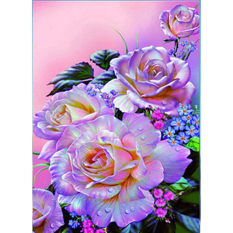 Bloom Peony Flowers - Easy DIY Diamond Painting Kits - OwlCube - Diamond Painting by Numbers