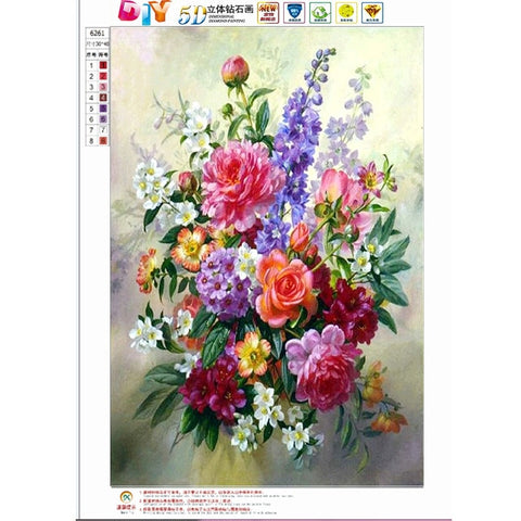 DIY Diamond Embroidery Flower,5D Diamond Painting,Cross Stitch,3D,Diamond Mosaic,Needlework,Crafts,Christmas,Gift