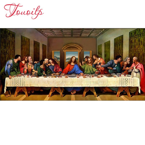 5D DIY spuare&round Diamond Painting The Last Supper Crystal Diamond Painting Jesus Cross Stitch Needlework Home Decorative