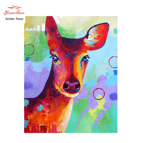 Cute Colorful Deer  - Easy Diamond Painting Kit - OwlCube - Diamond Painting by Numbers