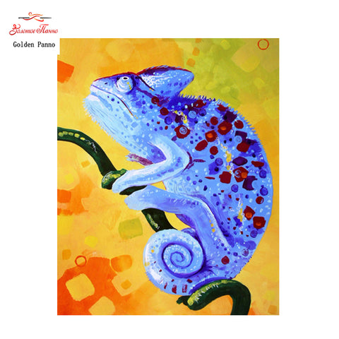 Colourful Chameleon - Easy Diamond Painting Kit - OwlCube - Diamond Painting by Numbers