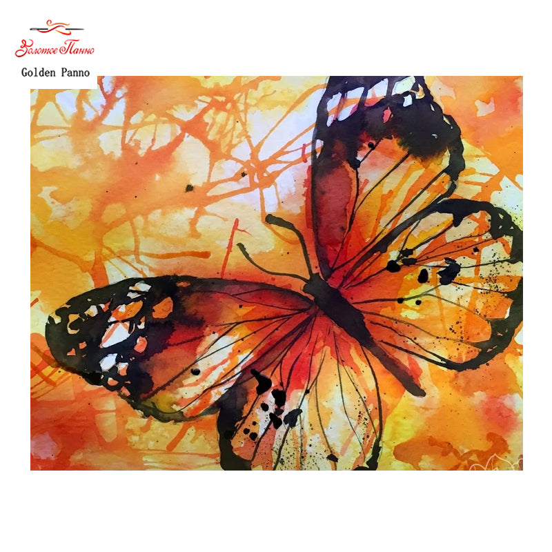 Butterflies are Self Propelled Flowers - Easy Diamond Painting Kit - OwlCube - Diamond Painting by Numbers