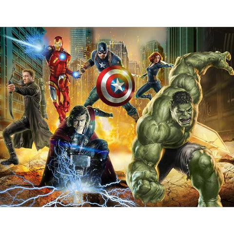 Full Square/Round Drill 5D DIY Diamond Painting -Movie Portrait- Embroidery Cartoon Avenger Cross Stitch Mosaic Baby Gift