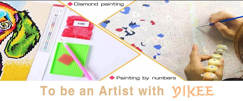 Colorful Cat Makes the World - Easy Diamond Painting Kit - OwlCube - Diamond Painting by Numbers