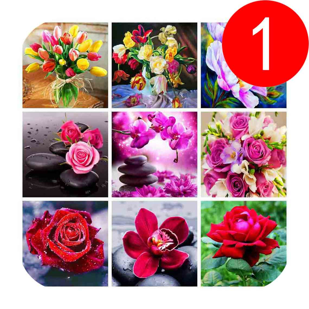 30X30CM diamond painting flowers 5d diy cross stitch diamond embroidery full round drill rose tulips patterns home decor - OwlCube - Diamond Painting by Numbers