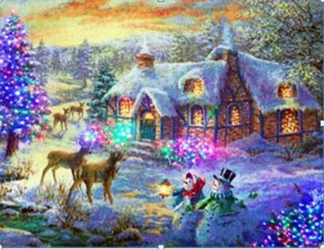 Christmas snowman DIY diamond painting Christams snowman 5D diamond embroidery snowman diamond mosaic full square painting sale - OwlCube - Diamond Painting by Numbers