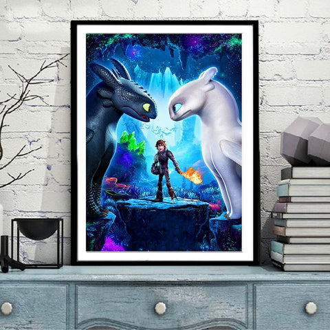 How to train your dragon 2 Movie poster 5D, diamond painting,cross stitch, 3d picture,full, diamond embroidery, mosaic NEW267