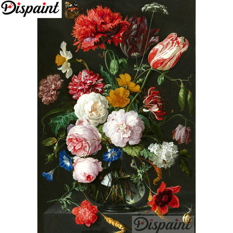 "Dispaint Full Square/Round Drill 5D DIY Diamond Painting ""Flower scene"" Embroidery Cross Stitch 3D Home Decor A12552"