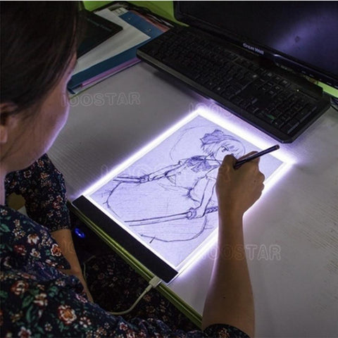 Diamond Painting A4 Luminescent Panel Dimmable A4 LED Light Tablet Ultrathin 3.5mm Pad Apply to EU/UK/AU/US/USB Plug