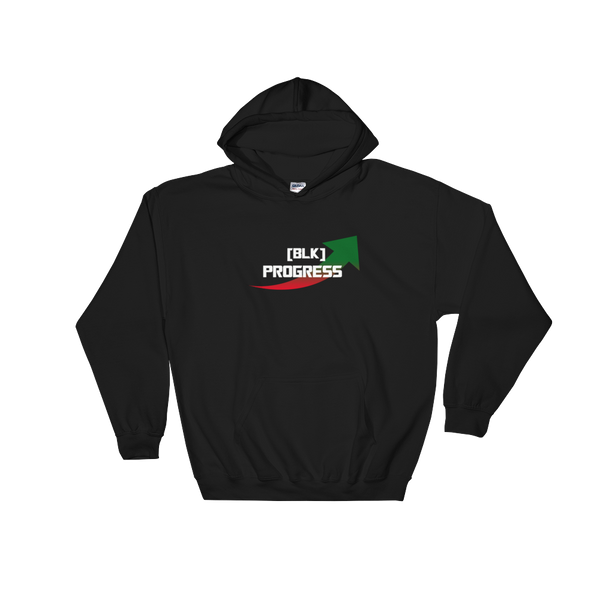 """Black Progress"" Mens' Hooded Sweatshirt"