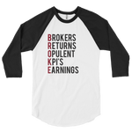BROKE Mens' 3/4 sleeve raglan shirt