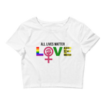 """Love"" Ladies' Crop Tee"