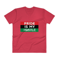 """Pride is my Hustle"" Mens' V-Neck T-Shirt"