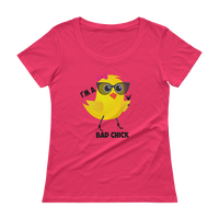 """Bad Chick"" Ladies' Scoopneck T-Shirt"
