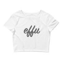 """Effu"" Ladies' Crop Tee"