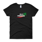 """Black Progress"" Ladies' short sleeve T-shirt"