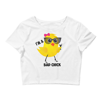 """Bad Chick"" Crop Tee"