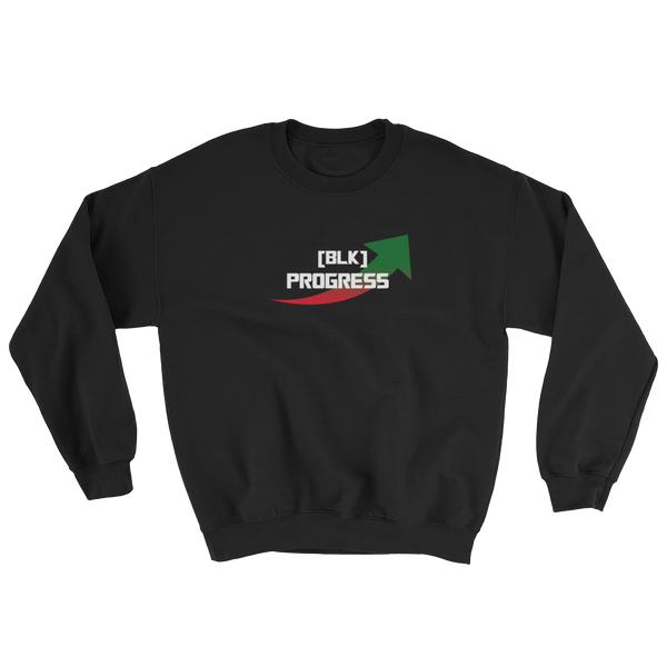 """Black Progress"" Mens' Sweatshirt"