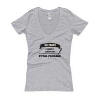 """Total Package"" Ladies' V-Neck T-shirt"
