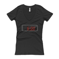 """Time"" Ladies' V-Neck T-shirt"
