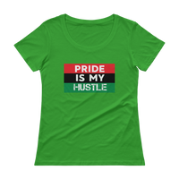 """Pride is my Hustle"" Ladies' Scoopneck T-Shirt"