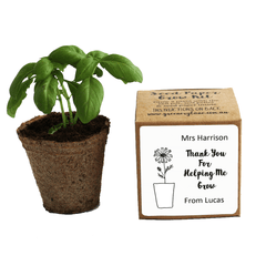 Eco friendly teacher gift ideas Australia. Seed kit thank you for helping me grow. Growing plants