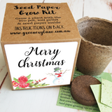 christmas seed gift eco friendly low waste recycled bon bon cracker seed paper grow kit growing brisbane Australia plant garden