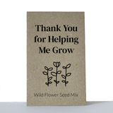 teacher gift seed packets Australia thank you for helping me grow