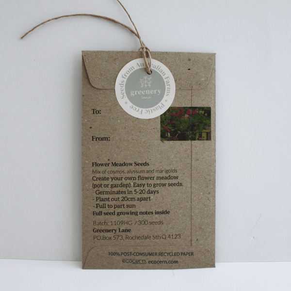 Greenery Lane Christmas Seed Packet / Gift Tag Teacher Seed Gifts Australia packet thank you for helping me grow eco