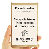 Greenery Lane Custom Pocket Garden - Seed Growing Kit Custom Seed Growing Kit Australia. Pocket Garden Greenery Lane eco