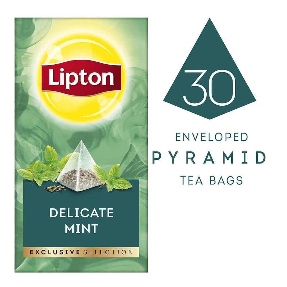 Lipton Exclusive Selection Delicate Mint (6 Boxes / 180 Sachets) - Lipton Tea