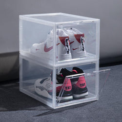 Drop Front Shoe Box | MAGNETIC | CLEAR - The Sneaker Laundry