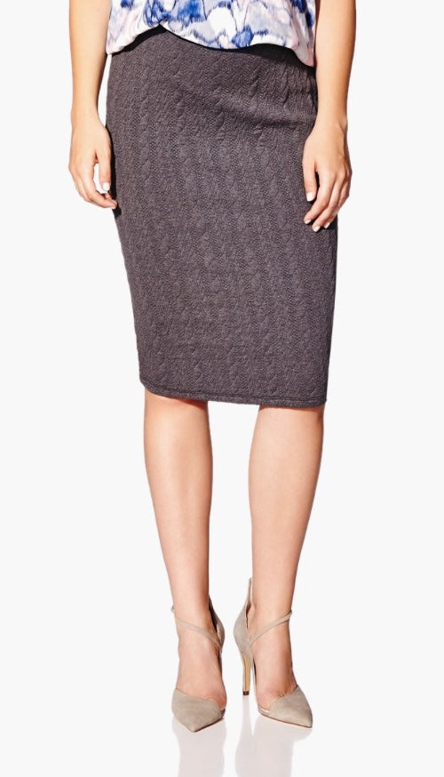 Patterned Knit Maternity Skirt (XS)