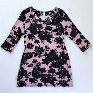 Lilac & Navy Floral Top (L)