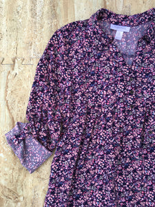Navy & Floral Top (M)