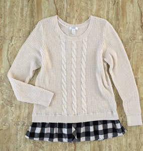 Cream Layered Sweater (XL)